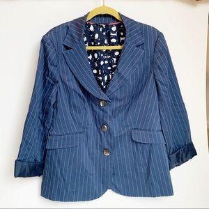 Boden cotton pinstripe blazer
